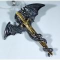 Подвеска Дракон с мечом
