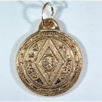 Пентакль Соломона богатство позолота