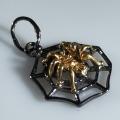 Серебряная подвеска паук