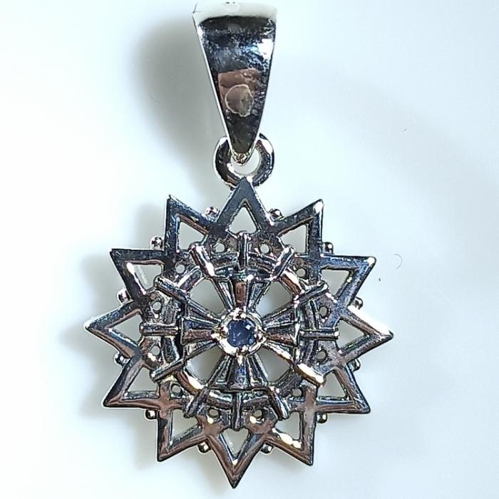 Амулет Звезда Эрцгаммы c сапфирами