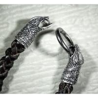 Браслет «Змея» из плетеной кожи
