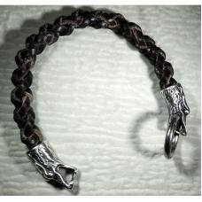 Браслет «Дракон» из плетеной кожи