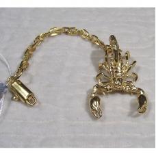 Брелок «Скорпион» позолота