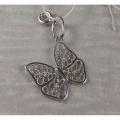 Серебряная подвеска-шарм «Бабочка»