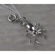 Серебряная подвеска-шарм «Паучок»