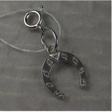 Подвеска-шарм серебряная «Подкова»