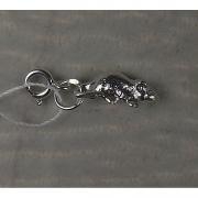 Серебряная подвеска-шарм «Мышка»