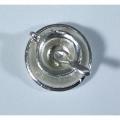Серебряная чашка с блюдцем